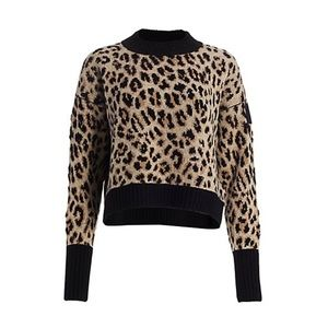Moncler Leopard Cashmere Blend Sweater Small